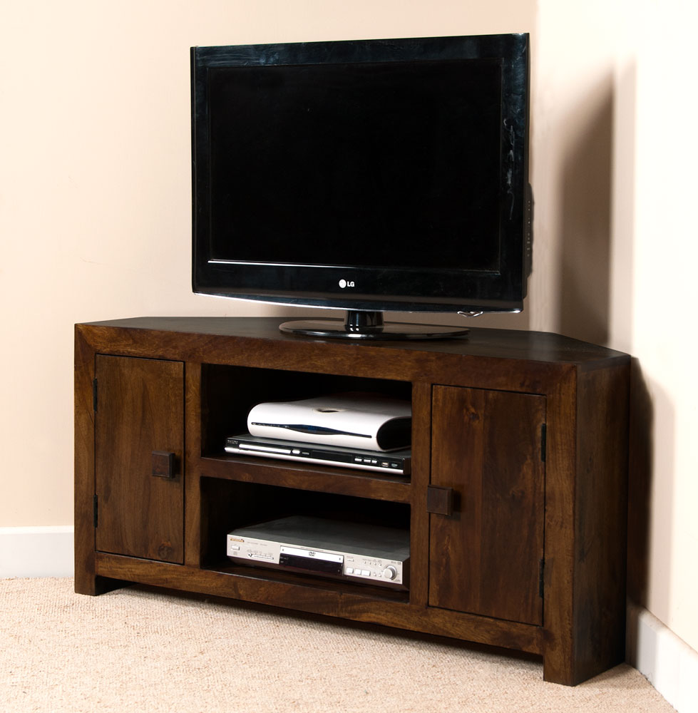DARK MANGO WOOD CORNER TV UNITSTAND LARGE MEDIA UNIT  : SataraWalnutCornerMedia1 from www.ebay.co.uk size 979 x 1000 jpeg 118kB