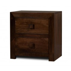 Dakota Dark Mango Bedside Table