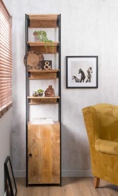 Imari Industrial Mango Slim Modular Storage Bookcase