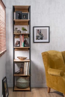 Imari Industrial Mango Slim Modular Bookcase
