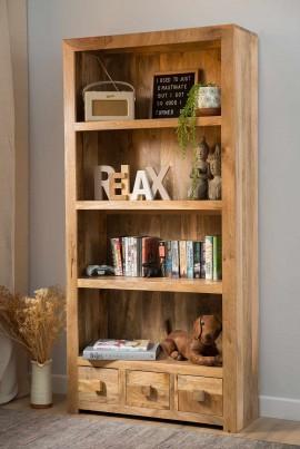 Dakota Light Mango Tall Bookcase