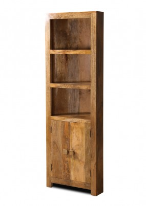 Dakota Light Mango Corner Bookcase 1
