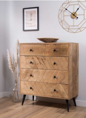 Urban Industrial Mango 2+3 Chest of Drawers