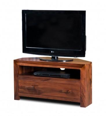 Mandir Sheesham Small Corner TV Unit