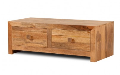 Dakota Light Mango 4-Drawer Coffee Table 1