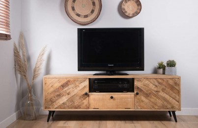 Urban Industrial Mango Wide Media Console