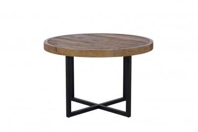 Brooklyn Industrial 120cm Round Dining Table