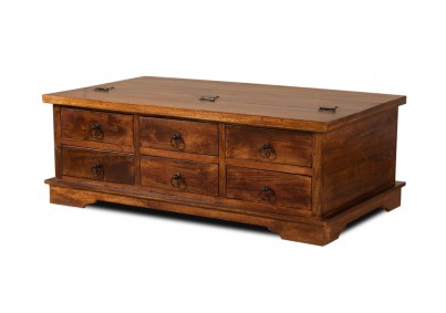 Tenali Mango Large Rectangular Trunk With Drawers 1