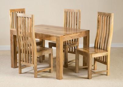 Dakota Light Mango 4-Seater Dining Set