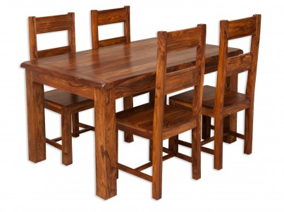 Farmhouse Sheesham 4-Seater Dining Set