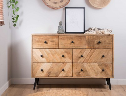 Urban Industrial Mango Large Chest Of Drawers