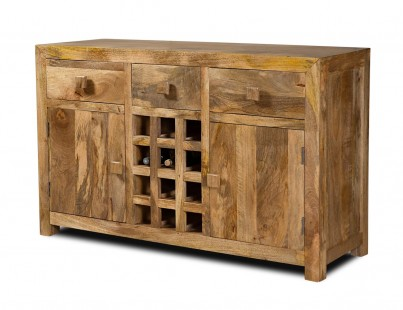 Dakota Light Mango Large Open Sideboard 1