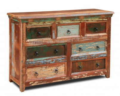 Reclaimed Indian Large Chest Of Drawers