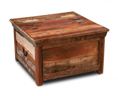 Reclaimed Indian Square Storage Trunk