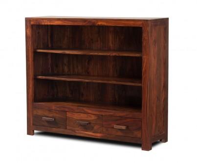 Mandir Sheesham Wide Bookcase 1