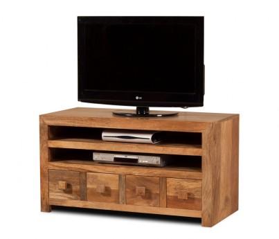 Dakota Light Mango Large 4 Drawer TV Unit 1