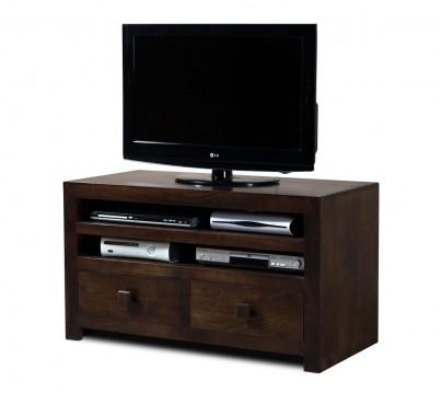 Dakota Dark Mango Medium 4 Drawer TV Unit 1