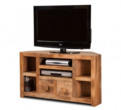 Dakota Light Mango Corner TV Unit 1