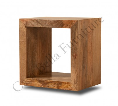 Dakota Light Mango Cube Side Table 1
