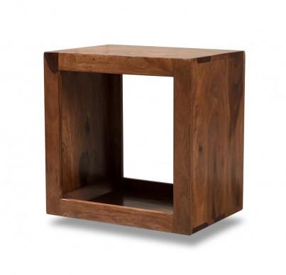 Mandir Sheesham Storage Cube 1