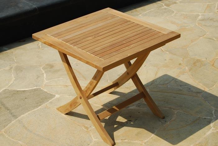 Folding Teak Side Table.Solid Teak Folding Side Table