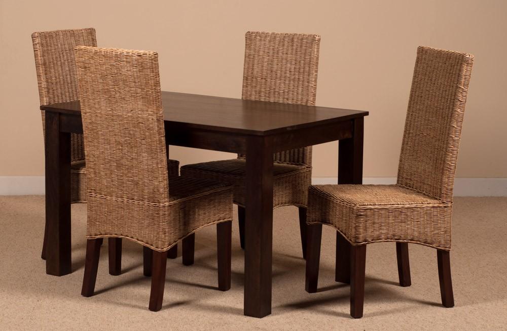 You are here home jali sheesham 4 seater dining set - Ibis Rattan 4 Seater Dining Set Dakota Table Casa