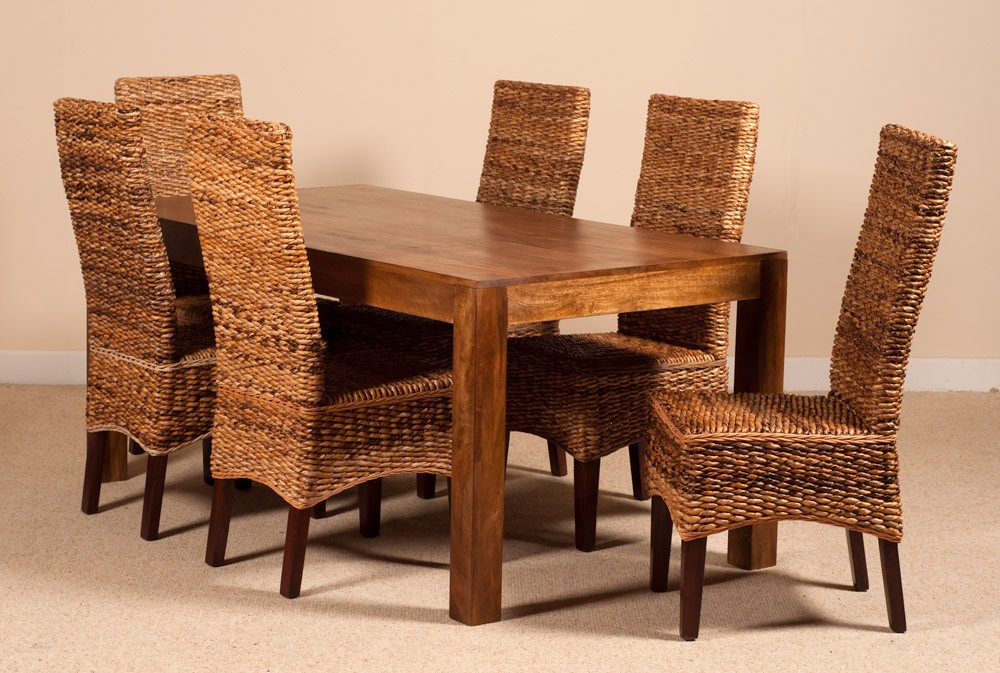 Catalina Rattan 6 Seater Dining Set Dakota Table