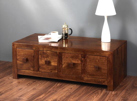 Attractive Dakota Mango 8 Drawer Coffee Table 2 ...