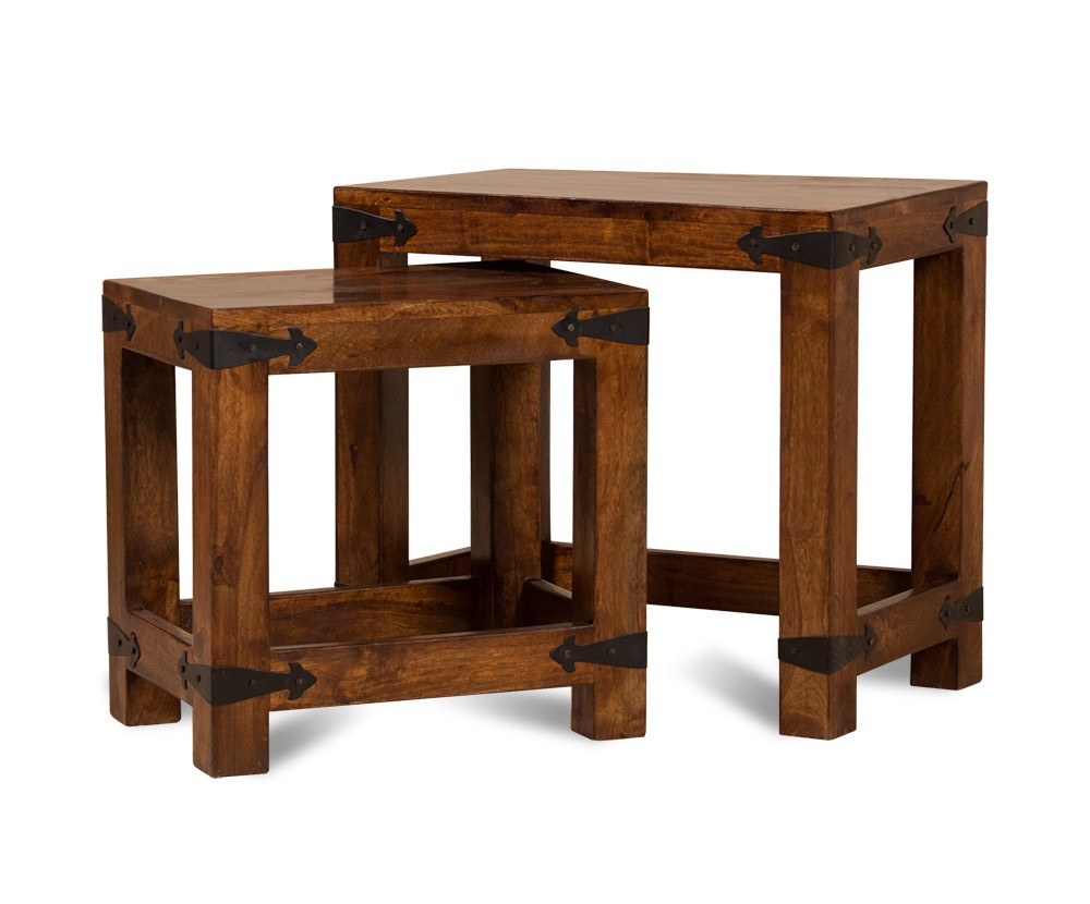 Mango Wood Side Table Chunky