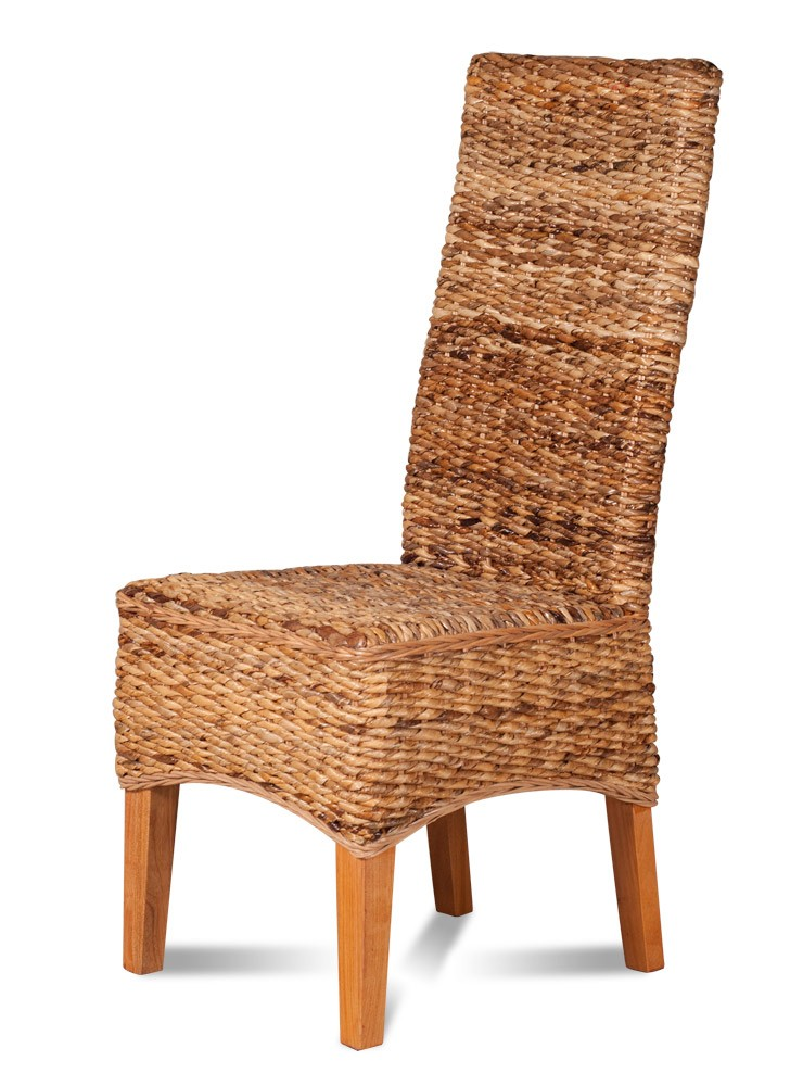 Dining chair light rattan light coloured legs casa for Furniture uk