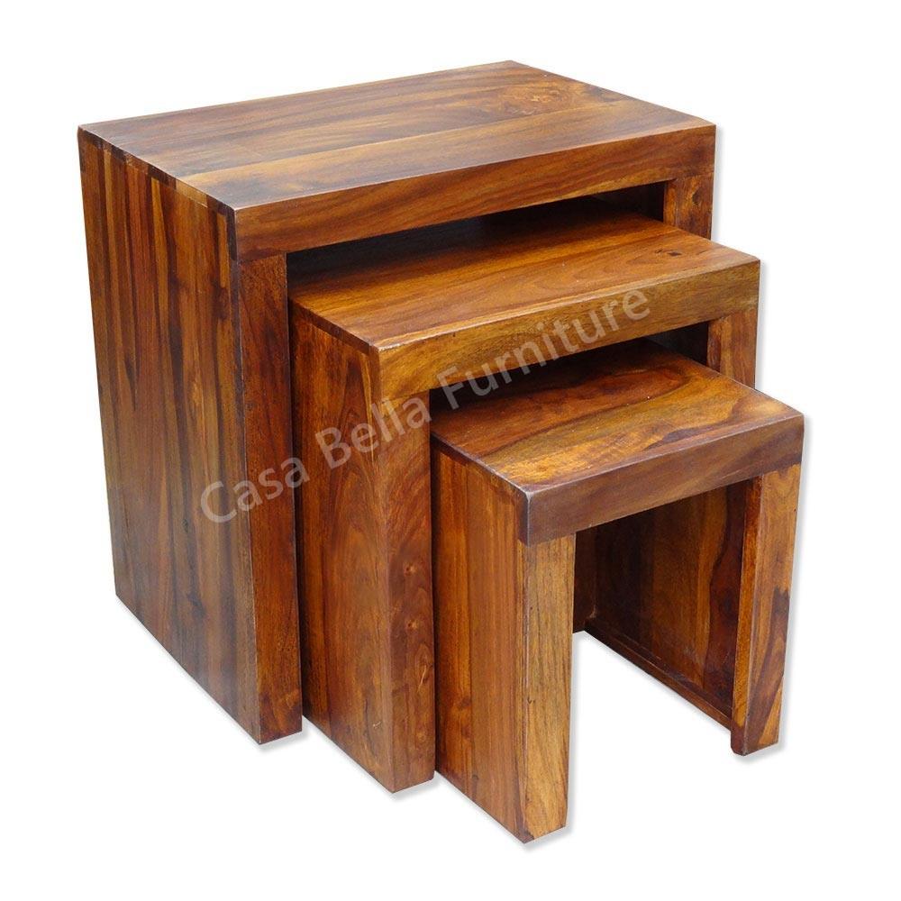 Cuba Sheesham Nest Of Tables Casa Bella Furniture UK