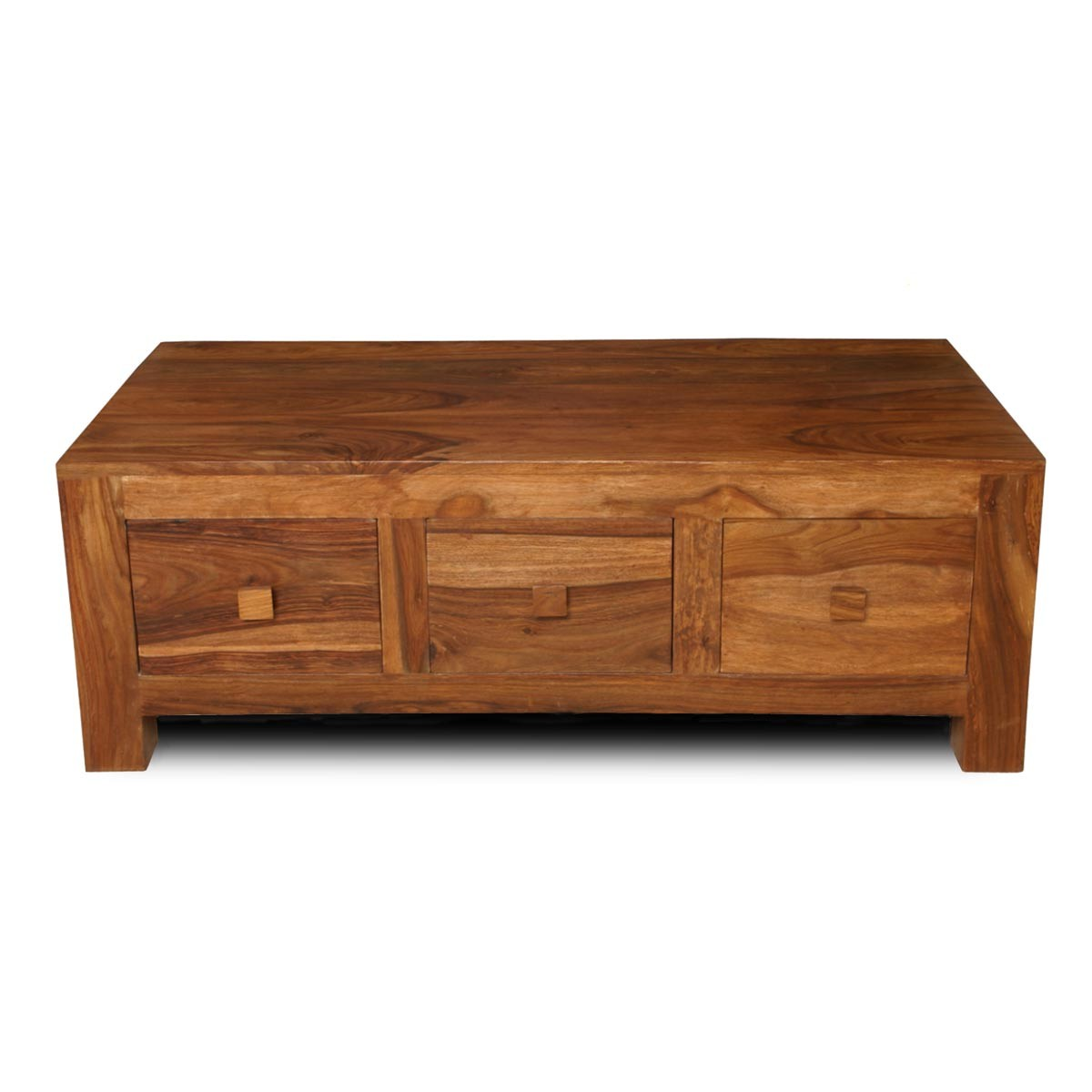 Cuba sheesham 3 drawer coffee table casa bella furniture uk for Furniture uk