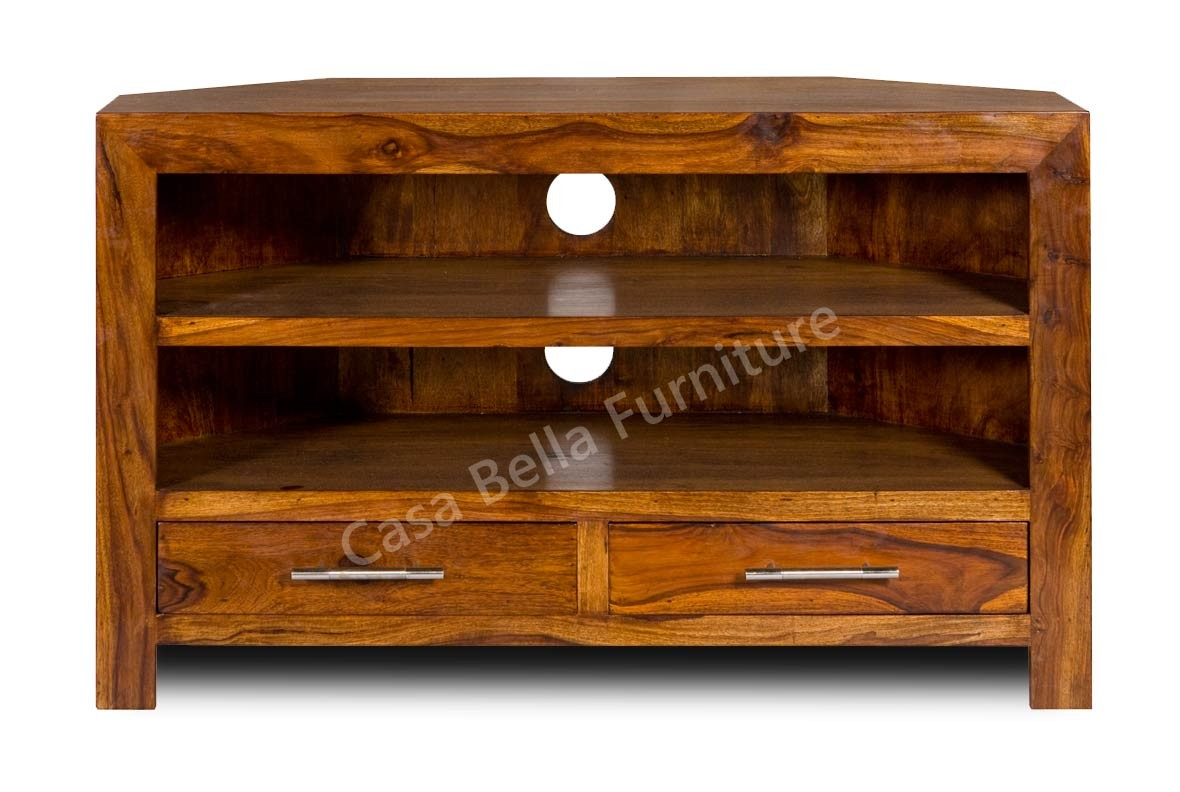 Cuba sheesham corner tv unit casa bella furniture uk for Furniture uk