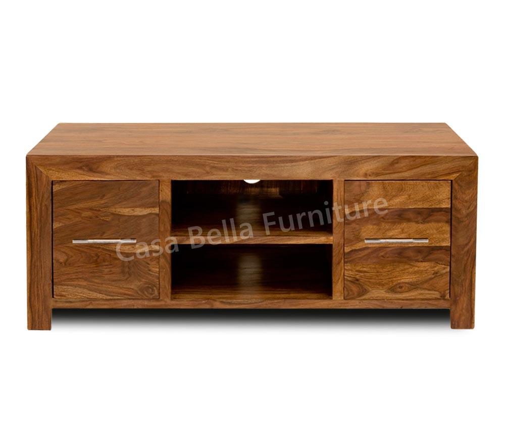 cuba sheesham plasma tv unit casa bella furniture uk. Black Bedroom Furniture Sets. Home Design Ideas