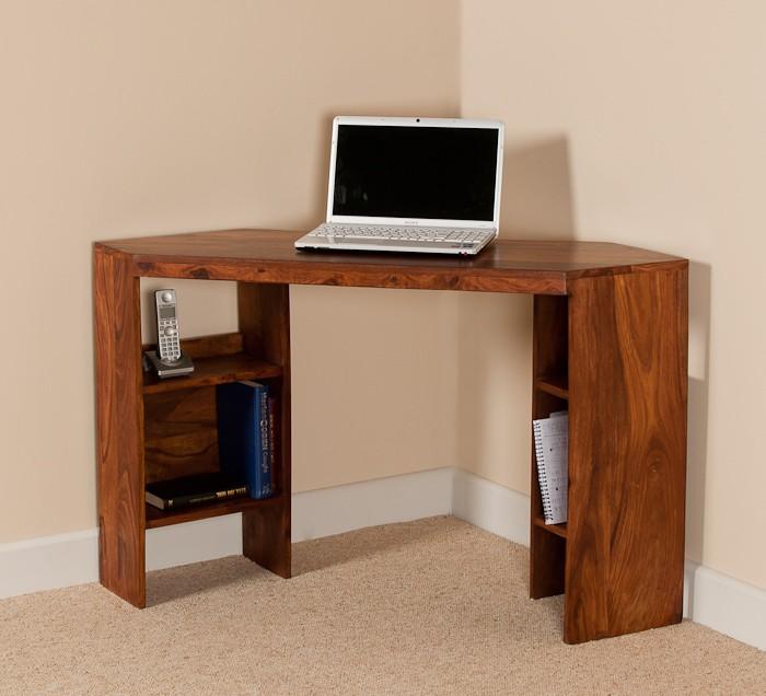 Mandir Sheesham Corner Desk 1