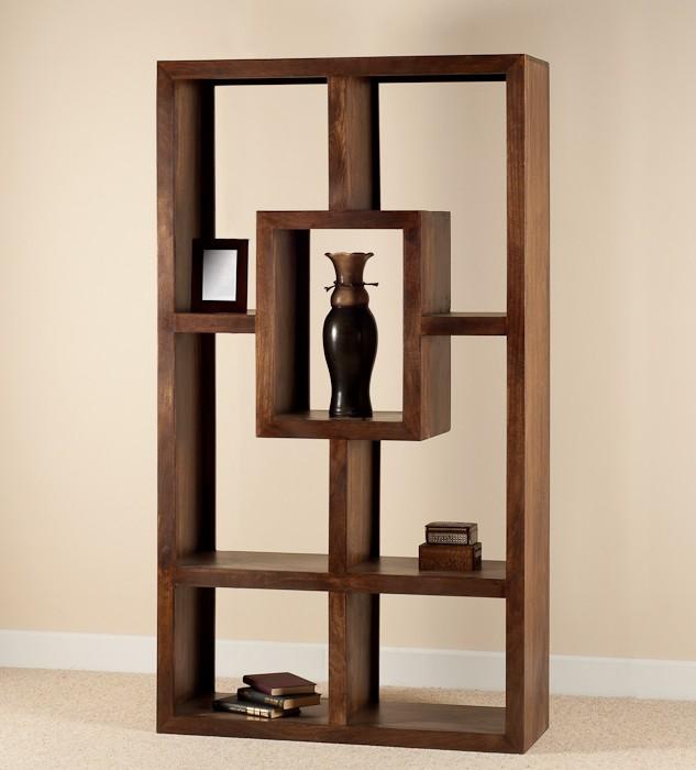 Mango Walnut Tall Open Bookcase/Shelving Unit | Casa Bella Furniture UK