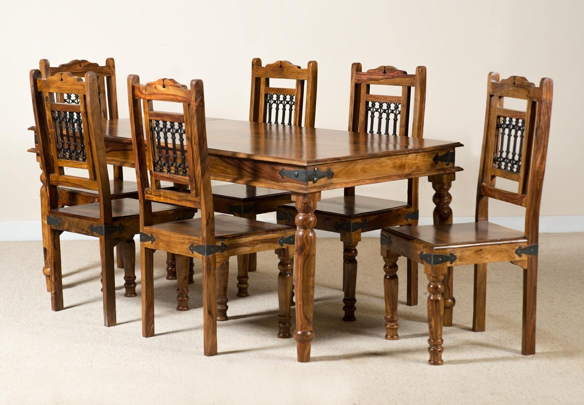 Jali sheesham 180cm table 6 chairs casa bella furniture uk for Table 6 of gstr 1