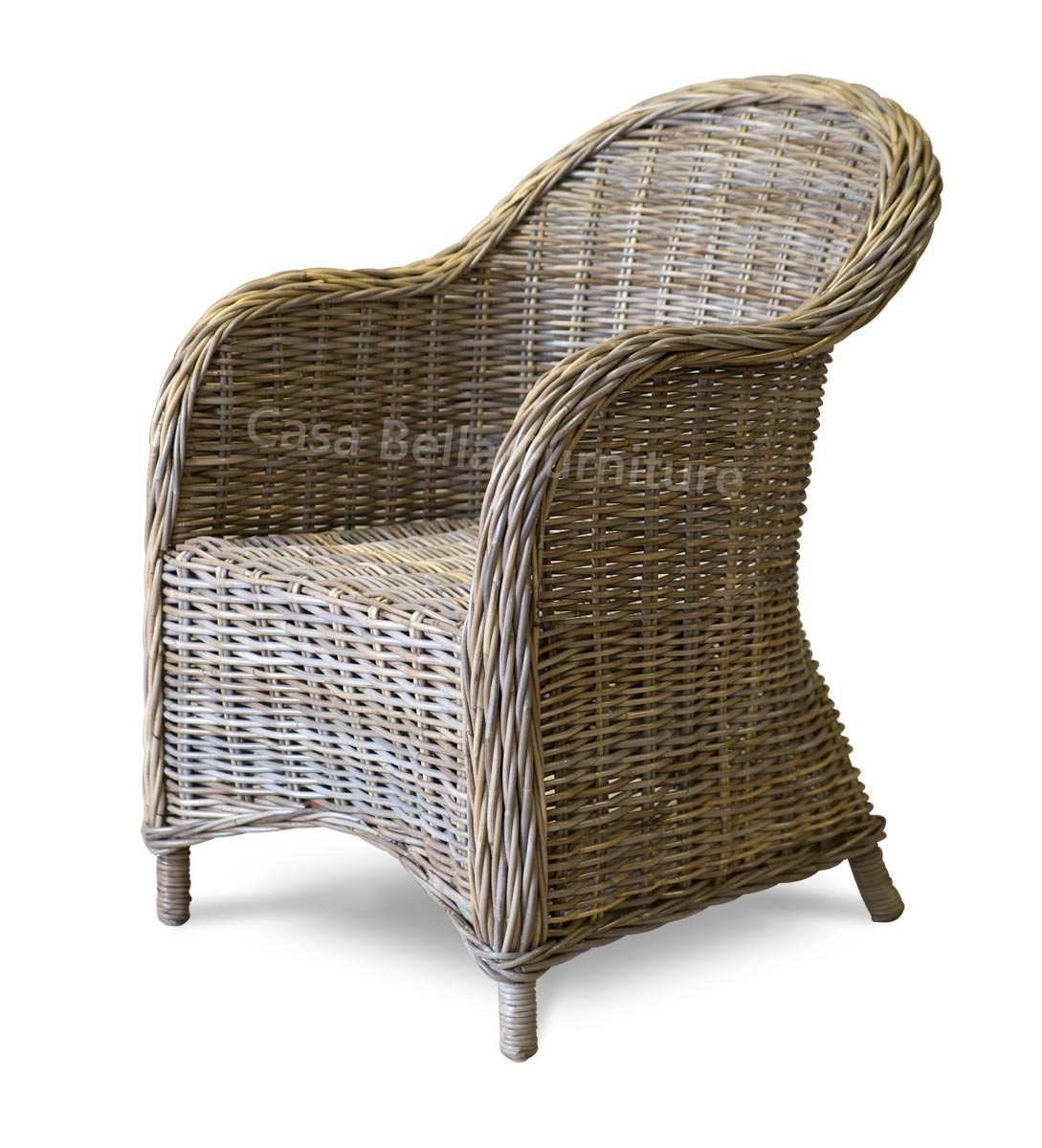 Kubu rattan armchair casa bella furniture uk for Bamboo furniture uk