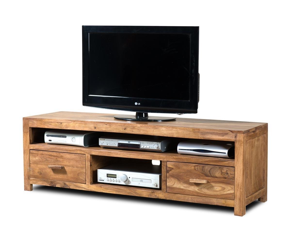 Mandir stonewashed sheesham large media unit casa bella for Kitchen cabinets 50cm wide