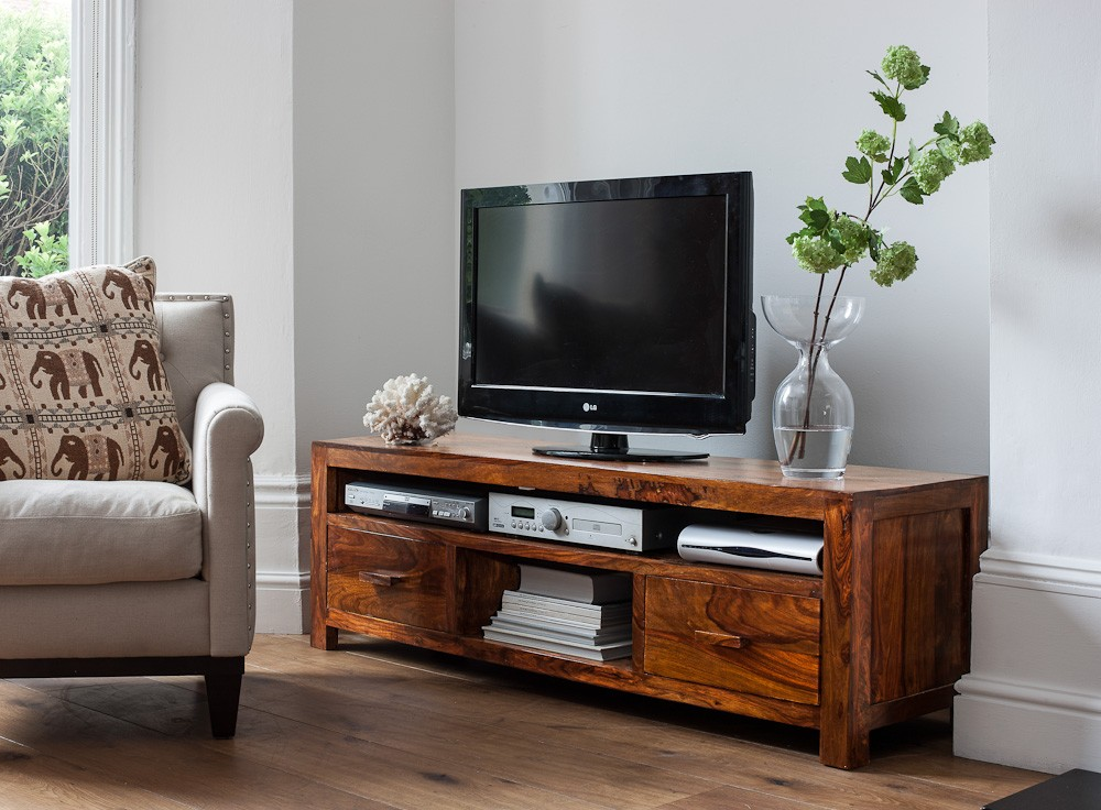 Large Solid Wood Media Center  Casa Bella Furniture UK