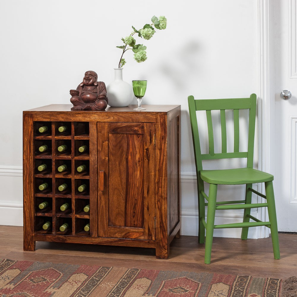Solid Wood Wine Cabinet Casa Bella Furniture Uk
