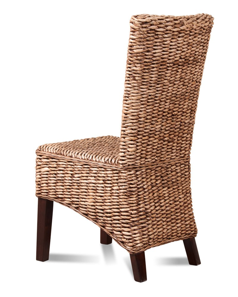 Dining chair dark banana leaf weave rattan furniture for Rattan furniture