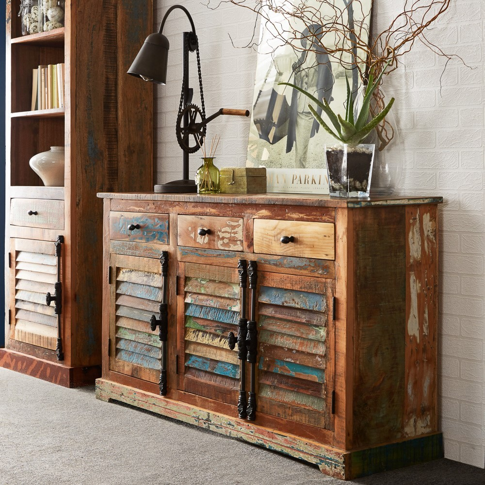 Reclaimed Indian Large Sideboard Casa Bella Furniture Uk