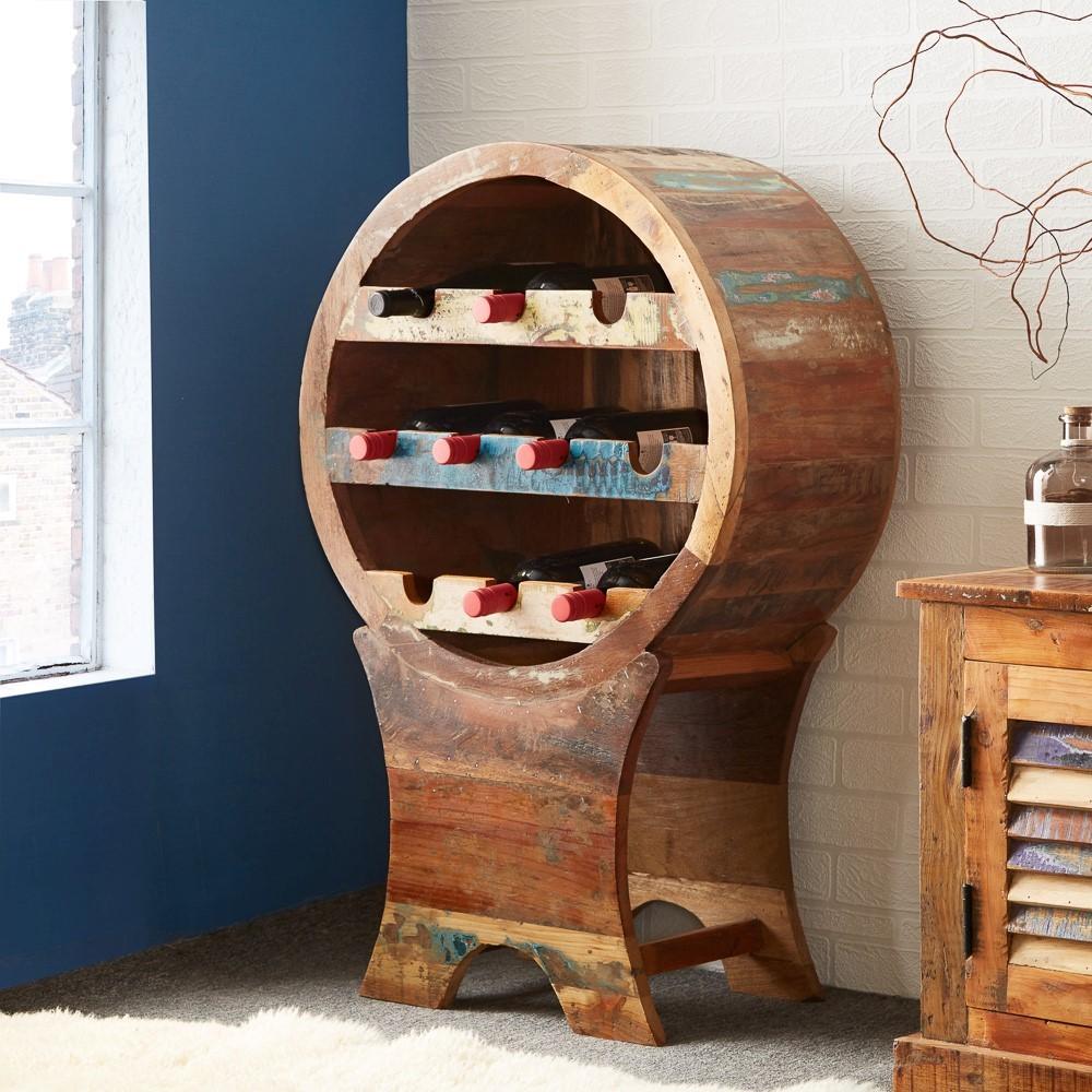 Reclaimed Indian Wine Rack Casa Bella Furniture Uk