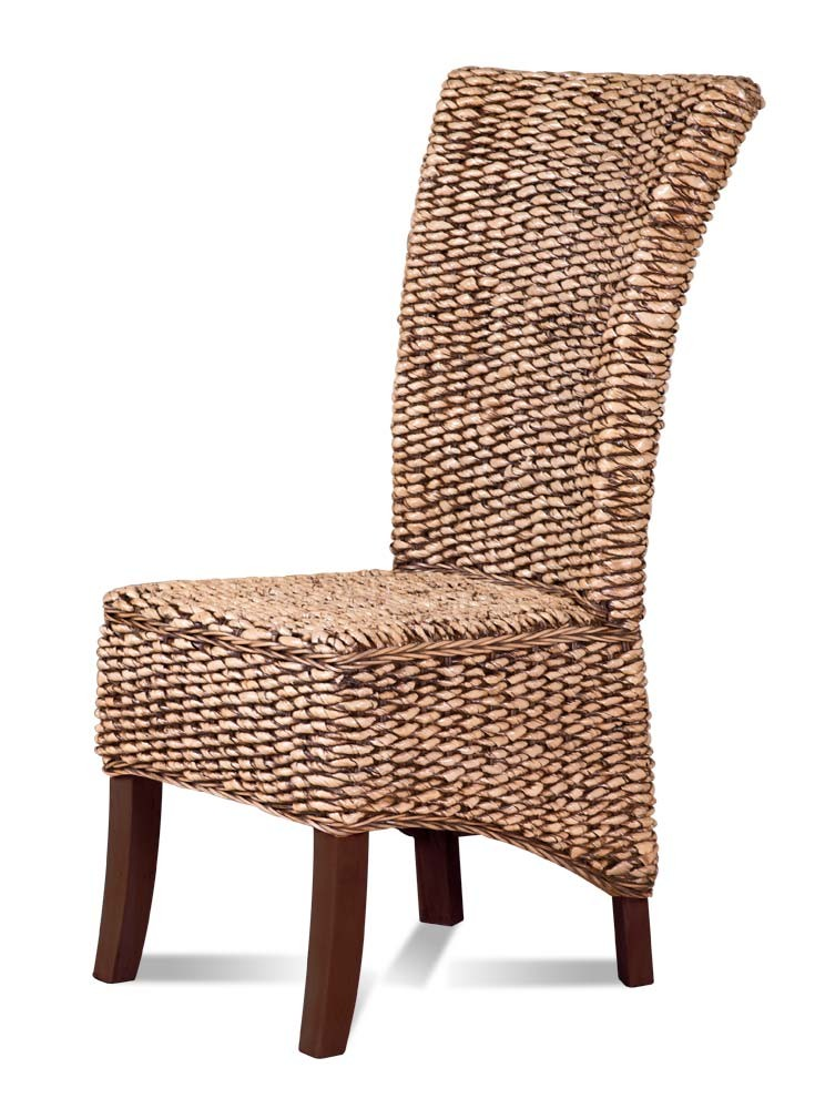 Charming Rosanna Rattan Dining Chair   Dark Leg 1