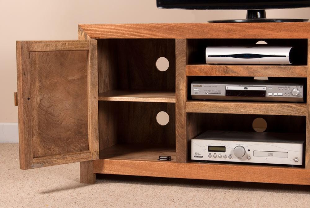 Dakota light mango media unit casa bella furniture uk - Costruire porta tv ...