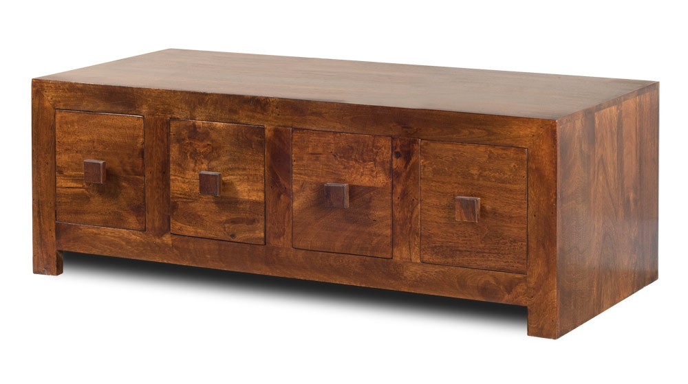 Delightful Dakota Mango 8 Drawer Coffee Table 1
