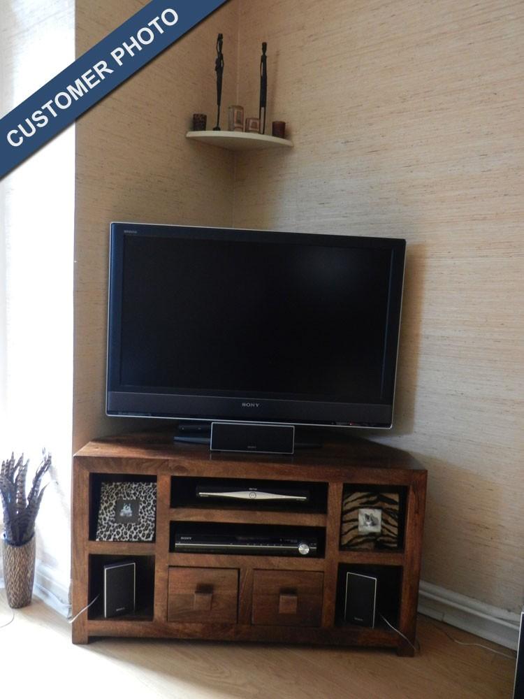 Dakota Mango Corner Tv Unit Casa Bella Furniture Uk