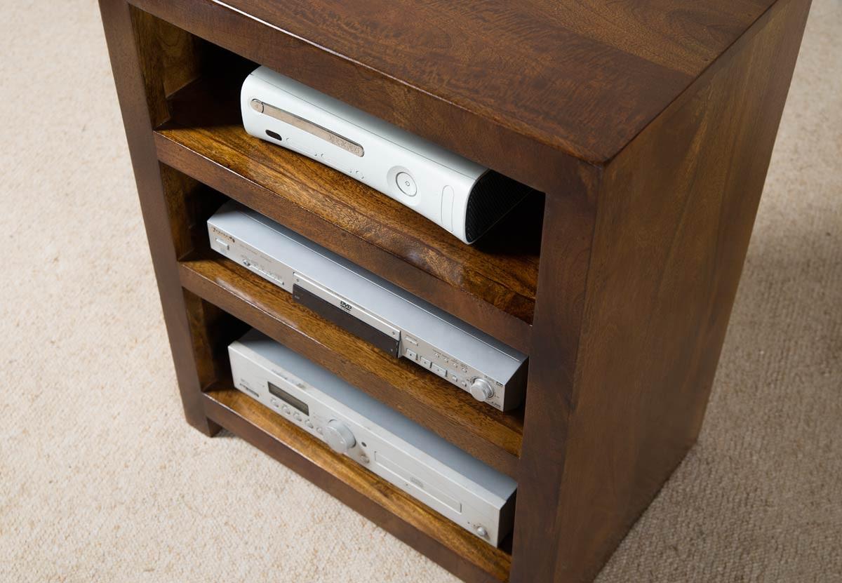 Solid Mango Wood Shelving Unit Handcrafted Indian Furniture Casa  # Hifi Furniture Wood High Quality