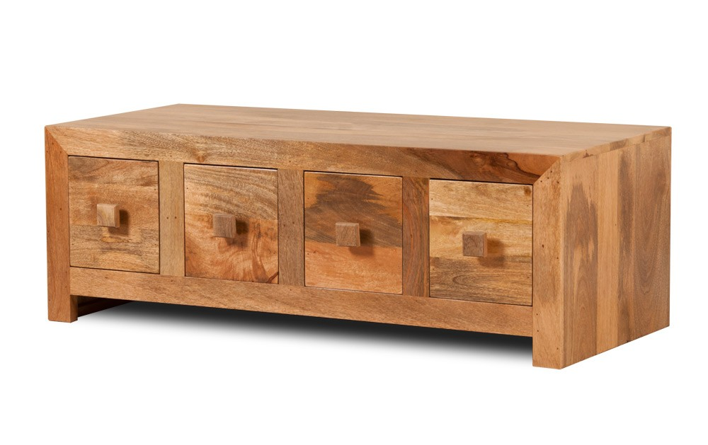 8 Drawer Trunk Style Mango Wood Coffee Table